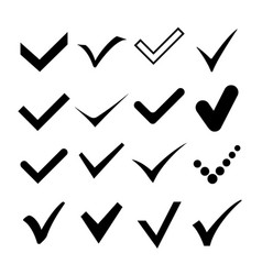check correct confirm mark symbol vector image