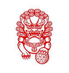 Chinese foo dog vector