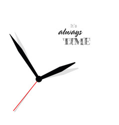 Clock with message vector