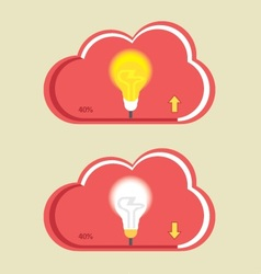 Cloud Bulb Download Upload vector image