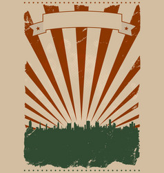 cool vintage american poster vector image