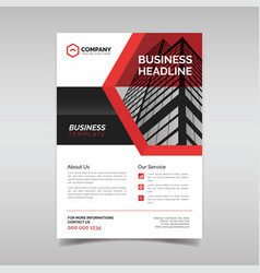 corporate business flyer template vector image