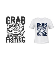 crab t-shirt print mockup fishing sport club vector image