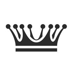crown icon coronation and heraldry emblem design vector image