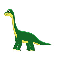 cute cartoon brachiosaurus cartoon dinosaur vector image