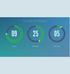 design of countdown timer for coming soon or under vector image