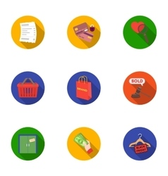 E-commerce set icons in flat style Big collection vector