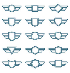 eagle wings army badges aviation wing vector image vector image