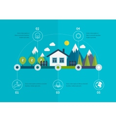 Ecology infographic elements flat vector image