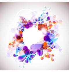 elegantly decorated frame vector image