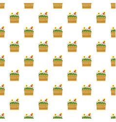 flower bed pattern vector image