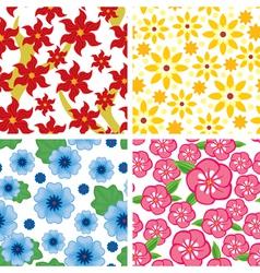 flower pattern set vector image