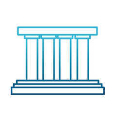 greek building columns vector image