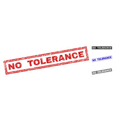 Grunge no tolerance scratched rectangle watermarks vector