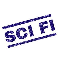 Grunge textured sci fi stamp seal vector