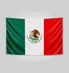 Hanging flag of mexico united mexican states vector