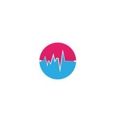 heart beat line vector image