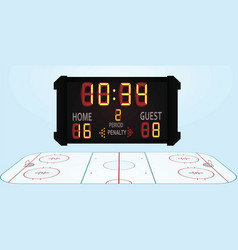 Hockey field vector