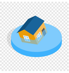 house sinking in a water isometric icon vector image