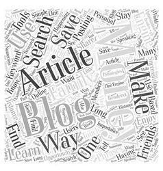 How to Use Articles to Make Money Blogging Word vector