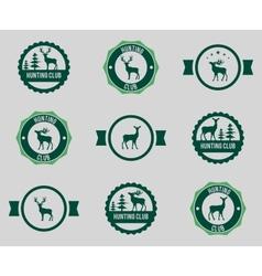 Hunting labels set vector image