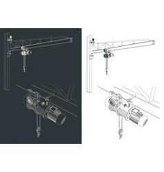 jib crane outline vector image