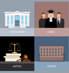 Justice banners set vector