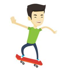 Man riding skateboard vector