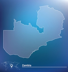 Map of Zambia vector image