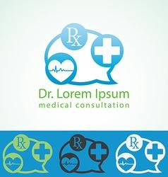 Medical pharmacy logo design template Medic cross vector