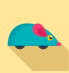 mouse toy icon flat style vector image