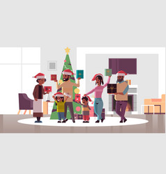 multi generation family with gift present boxes vector image