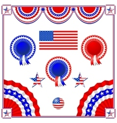 National American symbolics vector