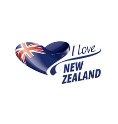 National flag new zealand in shape a vector