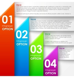 Paper infographics options banner vector image