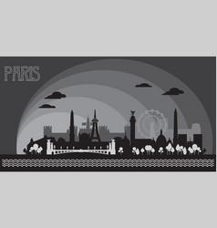 Paris skyline silhouette 8 vector