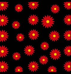 Pattern flowers floral background vector