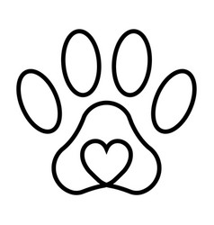 pet paw print cat dog man friend paw vector image
