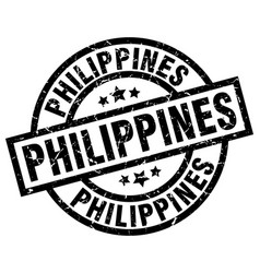 Philippines black round grunge stamp vector