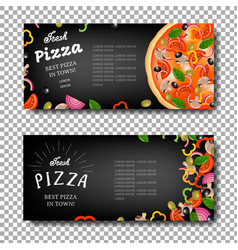 Pizza banner isolated vector