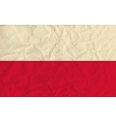 Poland paper flag vector image