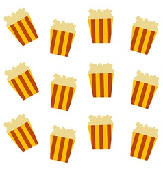 Pop corn pattern vector