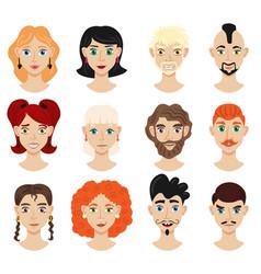 Portrait face creator set vector