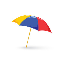 red beach umbrella holiday vector image