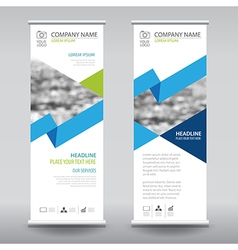 roll up business brochure flyer banner design vector image