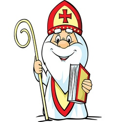 Saint Nicholas - isolated on white backgroun vector