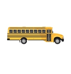 School Bus Icon on white background vector