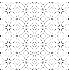 Seamless Monochrome Geometric Pattern vector