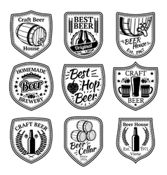 set badges for beer and brewery business vector image