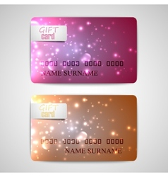 set of shiny gift cards vector image